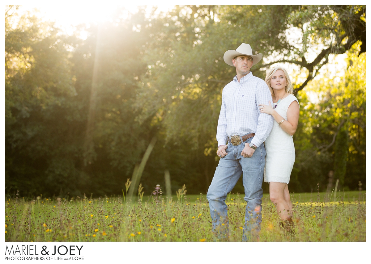 rustic engagement photos in houston texas hannah and brad featured