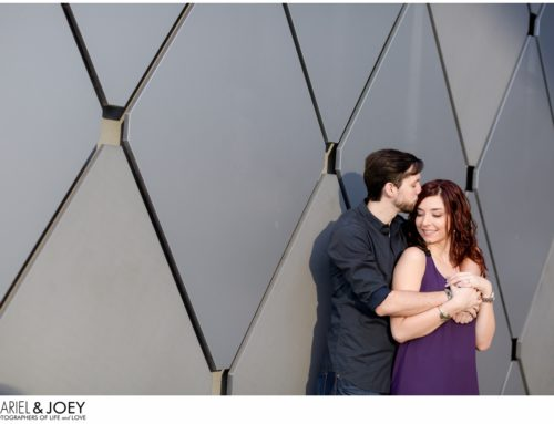 Husband and Wife Wedding Photographers | Dallas Engagement Portraits in the Arts District