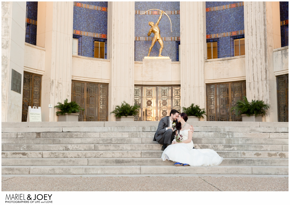 dallas wedding at the hall of state fair park erin and james mariel and joey photography